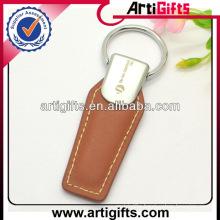 Men wear-resistant leather keychain
