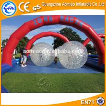 Gran diversión niños hierba folling zorb bolas inflables zorb bola pista de Guangzhou fabricante