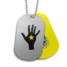 2013 étiquette en métal avec anneau