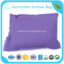 Bolso de carbón de leña de bambú del coche 400g, bolso del desodorizador para el bolso activo fresco del carbono del aire