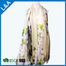 Elegante lenço de impressão Lady Jiangnan Water Printing