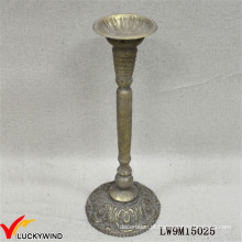 Vela européia do bastão do ouro do vintage feita de Matel