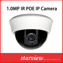 1.0MP IP plástico interior domo red CCTV cámara de seguridad