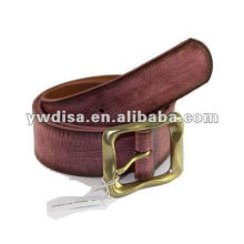 Soft Plain Genuine Leather For Man With Alloy Buckle