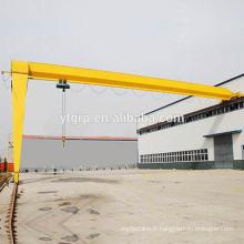 Grue semi-portique avec le panneau de commande du fournisseur chinois