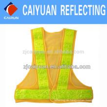 CY-Mesh Warnung reflektierende Warnweste mit Klebeband PVC Crystal Fabric reflektieren