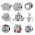 Оптовые 925 стерлингового серебра европейские бусы ювелирные изделия