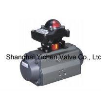 Пневматические приводы с пружинным управлением с блоком концевых выключателей (YCAT)