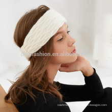 2016 winters cashmere wool cable knitted headband for women