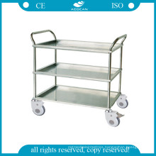 Crooked Handrail Treatment Trolley with Three Shelves AG-Ss022A