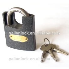 China Suppliers Cheap Shackle Half Protected Arc Type Cross Key Plastic Painted iron Padlock