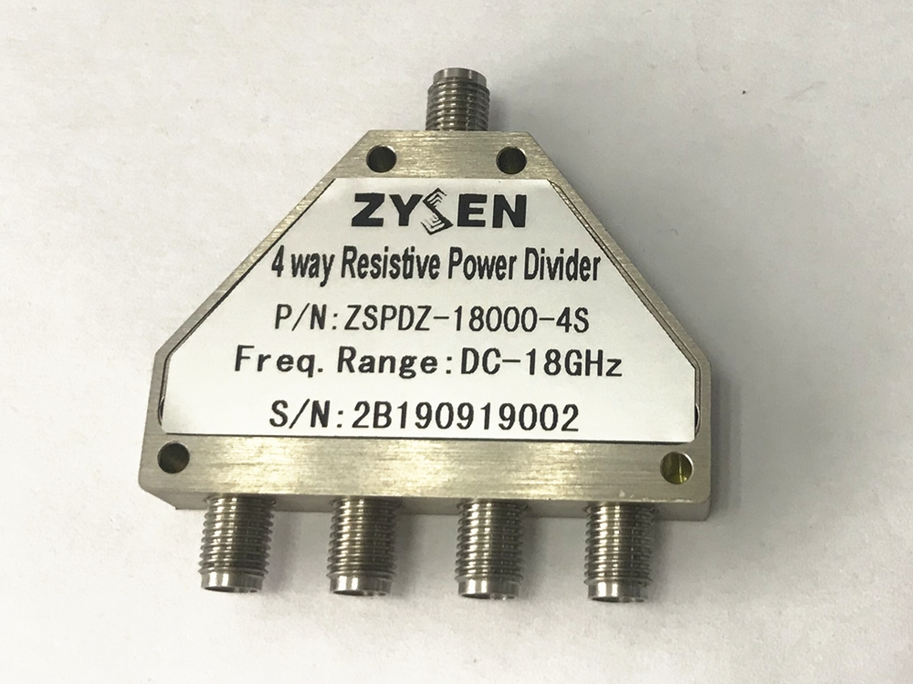 DC-18GHz 4-way Resistive Power Divider