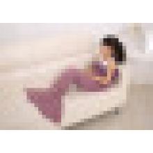 New Hot Children Yarn Knitted Mermaid Tail Blanket