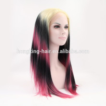 wholesale factory price machine made synthetic lace frontal wig