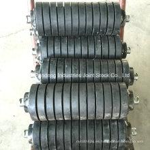 Rodillo de goma estándar de ASTM / Cema / DIN / Sha / Rodillo de impacto / Rodillo de fricción del transportador