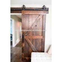Antique sliding solid wood barn door