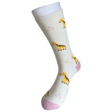 Media almohadilla de algodón de moda Logo Sport Giraffe Socks (JMCC05)