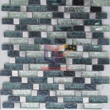 Gold Leaf Mix Metal and Crystal Mosaic (GF254)