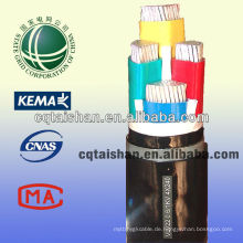 State Grid 1KV PVC Isoliertes PVC ummanteltes 4 Core Power Kabel