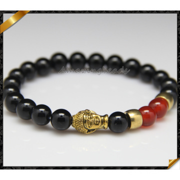 2016 moda personalizado feito bracelete de pedra natural Braid (CB0124)