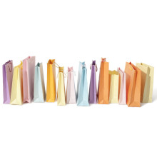 Farben-kundenspezifische Einkaufstasche Geschenk-Papierbeutel-Druck