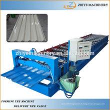 Hoja de techo de acero trapezoidal que forma la máquina