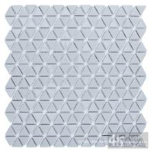 Grey Triangle Glass Mosaic Floor Tile