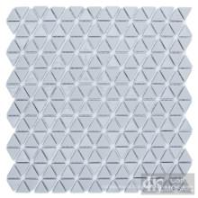 Azulejo de mosaico de vidro triangular cinza