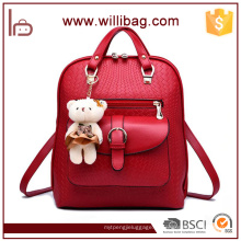 China fornecedores atacado tendência mochila PU saco mulheres com brinquedo