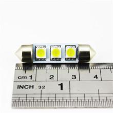 La lámpara auto de la placa al por mayor de la fábrica 5050 3SMD los 39MM llevó luces interiores del coche
