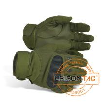 Taktische Handschuhe aus ausgezeichneter Faser und Leder Material