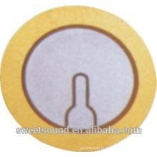Usine de dongguan piezoceramics 20mm buzzer cristal piézoélectrique