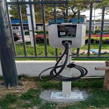 Pila de carga de coches eléctricos instalada en la estación de carga
