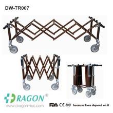 Dragon aluminium mortuaire utilisé en acier 4 ou 2 freins cercueils fabricants de chariots
