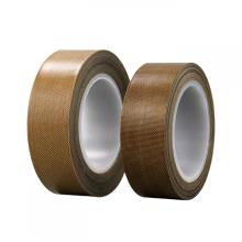 0.13mm brown PTFE coated fiberglass adhesive tape