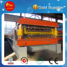 High Quality Steel Roof Tile Double Deck Roll Forming Machine for Making Two Profiles