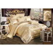 Royal Luxury Jacquard bordado conjunto de ropa de cama y juego de sábanas 6 piezas