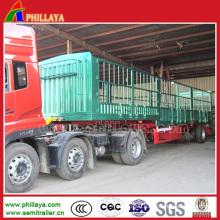 3 Axles Livestock Fence Semi Trailer Truck