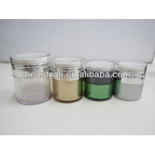 Round airless plastic acrylic jars for personal care