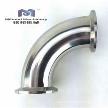 Ellenbogenschlaufe aus rostfreiem Stahl 304 / 316L, 90 Grad, Tri-Clamp-Aderendhülse