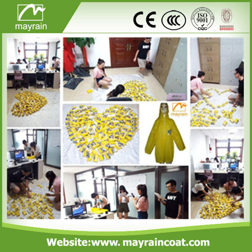PVC Raincoat with Yellow Dots