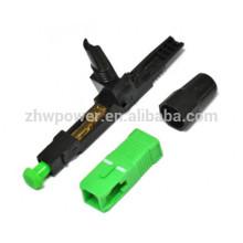 Conector rápido de fibra óptica, conector rápido sc apc, conector de fibra óptica upc SC para cabo de queda FTTH