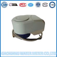 Latão leitura remota com fio de água medidor com válvula controlável (DN15-DN25)