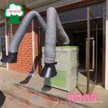 purificador de humos inteligente de soldadura móvil con dispositivo de freno para facilitar el movimiento