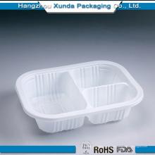Пользовательский пластиковый лоток для пищевых продуктов с 3-мя отсеками