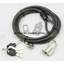 Cerradura y candado para laptop, cable + candado (AL2000)