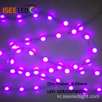 12V DC SMD RGB 5050 LED 볼 문자열