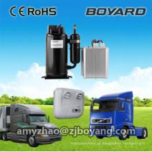 Hermético rotativo bldc energia solar r134a dc compressor para dc powered 12 / 24v caminhão dorminhoco ar condicionado