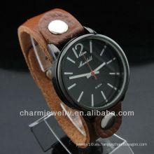 Relojes de cuero de alta calidad de los relojes del cuero de los pares 2014 WL-029