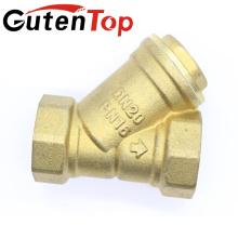Gutentop высокое качество Женский резьба Латунь Y Тип ситечко штуцер ss304 фильтром Ду20